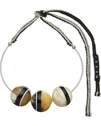 Marni | Black Horn And Silver-plated Brass Necklace - For Women | Lyst