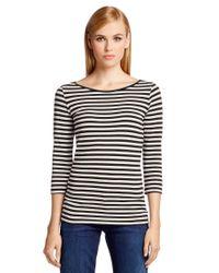 HUGO | Blue Striped T-shirt In Stretch Cotton Blend: 'dannala_2' | Lyst