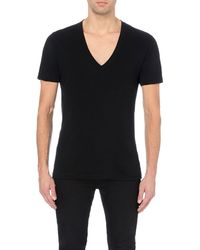 American Apparel | Black V-neck Cotton-jersey T-shirt - For Men for Men | Lyst