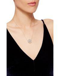 Alison Lou - Metallic Diamond Daisy Necklace - Lyst