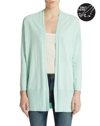 Lord & Taylor Green Oversized Cardigan