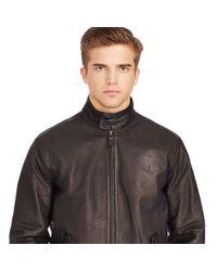 Polo Ralph Lauren   Black Leather Full-zip Jacket for Men   Lyst