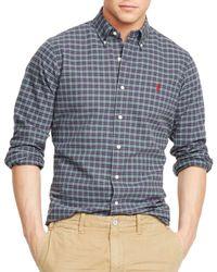 Ralph Lauren Purple Polo Plaid Oxford Shirt for men