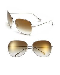 Oliver Peoples | Metallic 'elsie' 64mm Metal Sunglasses | Lyst