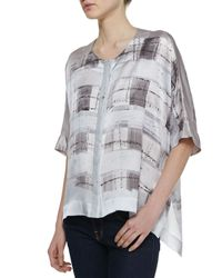 Lafayette 148 New York | Jordana Watercolor Silk Blouse | Lyst
