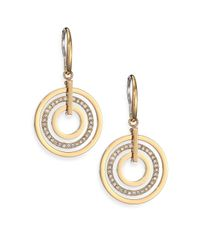 Michael Kors - Metallic Brilliance Statement Pavé Nested Circle Drop Earrings - Lyst