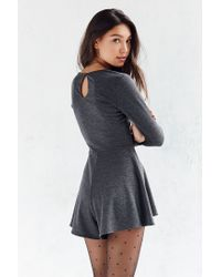 Kimchi Blue | Gray Square Neck Long-sleeve Romper | Lyst
