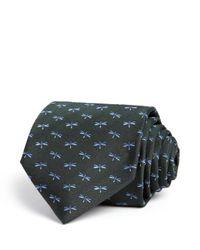 Ferragamo | Green Zaire Jacq Dragonfly Classic Tie for Men | Lyst