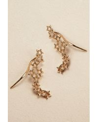 Anthropologie | Metallic Shooting Star Ear Climbers | Lyst