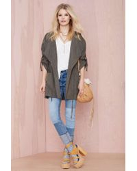 Nasty Gal | Green Incognito Anorak - Olive | Lyst