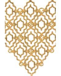 Isharya   Metallic Mesh Ring And Braclt Piece   Lyst