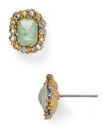 Alexis Bittar | Metallic Elements Crystal Studded Emerald-Cut Amazonite Stud Earrings | Lyst