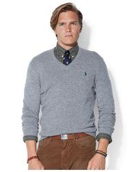 ee282c22 Polo Ralph Lauren Loryelle Merino Wool V-Neck Sweater in ...