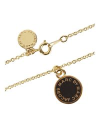 Marc By Marc Jacobs | Metallic Black Enamel Disc Pendant | Lyst