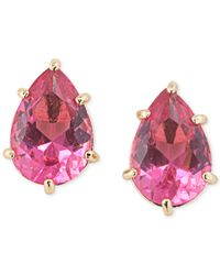 Carolee | Pink Teardrop Stud Earrings | Lyst