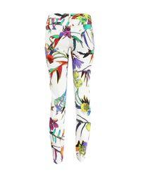 Just Cavalli White Flower Print Jeans