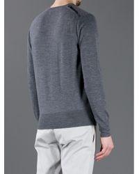 Burberry London | Gray Vneck Sweater for Men | Lyst
