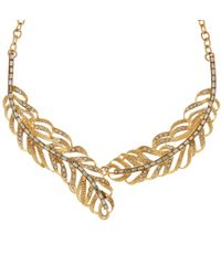 Hobbs | Metallic Feather Necklace | Lyst