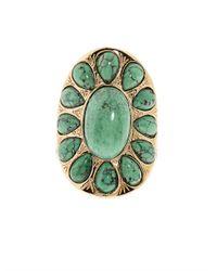 Aurelie Bidermann - Green Natural Stone Ring - Lyst