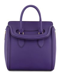 Alexander McQueen Blue Heroine Medium Flaptop Tote Bag Purple