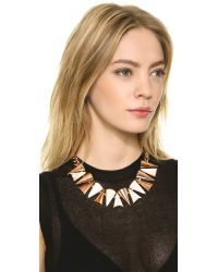 Sarah Magid Metallic Cone Necklace, Mother Of Pearl