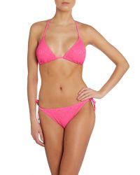Marie Meili - Pink Triangle Bikini Top - Lyst
