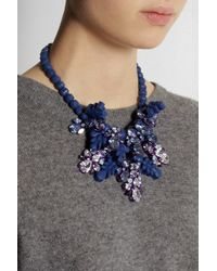 EK Thongprasert | Blue Silver-Plated, Silicone And Cubic Zirconia Necklace | Lyst