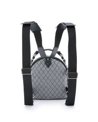 MSGM - Gray Quilted Rocket Backpack - Heather Grey - Lyst