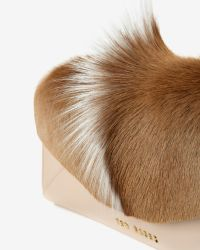 Ted Baker - Natural Bold Envelope Leather Clutch - Lyst
