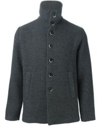 Barena - Gray Buttoned Chunky Cardigan for Men - Lyst