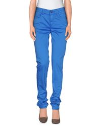 Armani Jeans | Blue Casual Trouser | Lyst