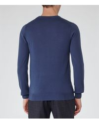 Reiss - Blue Hart Merino Wool Jumper for Men - Lyst