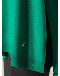 KENZO - Green V-Neck Sweater - Lyst