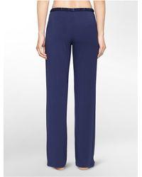 Calvin Klein | Blue Underwear Essentials Satin Trim Lounge Pants | Lyst