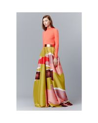 ROKSANDA Multicolor Floor-length Printed Silk Skirt