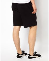 PUMA - Black Sweat Shorts for Men - Lyst