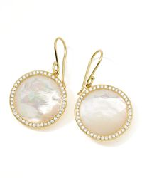 Ippolita | Metallic Rock Candy 18k Gold Lollipop Diamond Earrings | Lyst