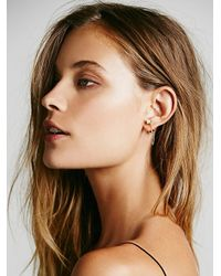 Free People - Metallic Monroe Chain Studs - Lyst