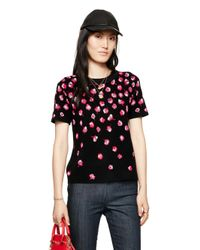kate spade new york | Black Falling Florals Sweater | Lyst