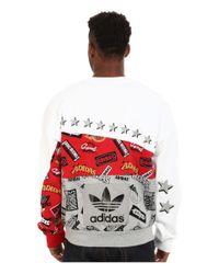 Adidas Originals | Gray Jams Blocked Crew for Men | Lyst