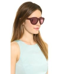 Marc Jacobs Bold Mirrored Sunglasses - Opal Burgundy/Pink Mirror