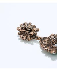 Zara | Gray Jewel Earrings | Lyst