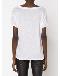 RTA White Loose Fit Round Neck T-shirt