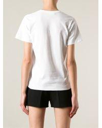 Play Comme des Garçons White Printed Heart T-shirt