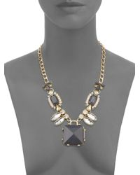 Saks Fifth Avenue | Metallic Faceted-stone Pendant Necklace | Lyst