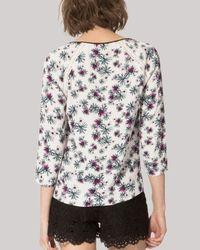 Maje Multicolor Larson Floral Print Top