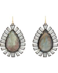 Nak Armstrong | Gray Gemstone Drop Earrings | Lyst
