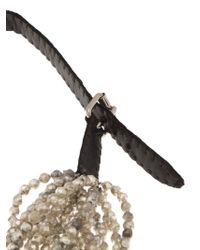 Jean-Francois Mimilla - Black Beaded Leather Necklace. - Lyst
