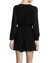 Étoile Isabel Marant - Black Karla Long-sleeve Pleated Dress - Lyst