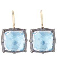 Larkspur & Hawk | Light Blue Silver Quartz Bella One Drop Earrings | Lyst